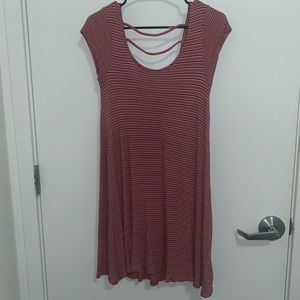 Red and Navy Striped American Eagle Dress
